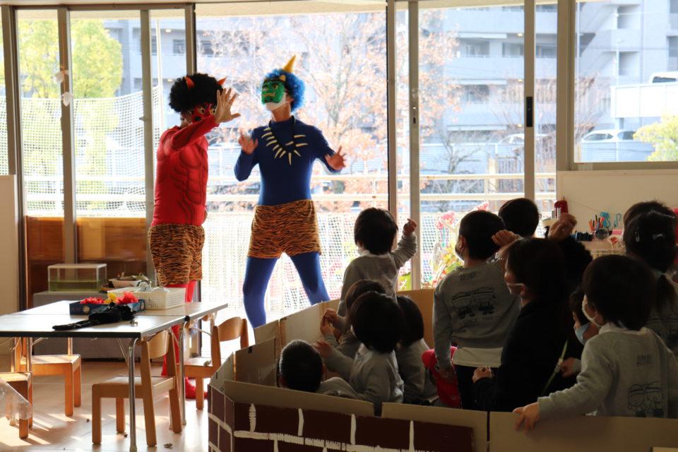 節分で幼稚園をめぐる鬼達